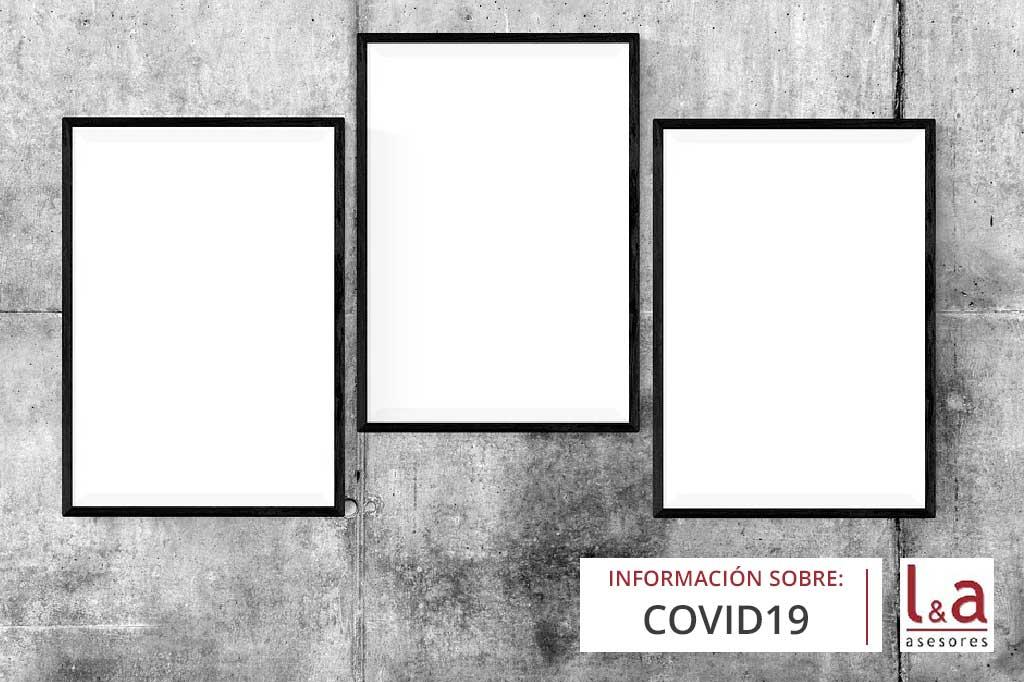 Carteles por cierre del Covid19