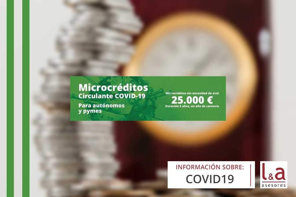 Microcréditos circulante COVID-19 para autónomos y Pymes