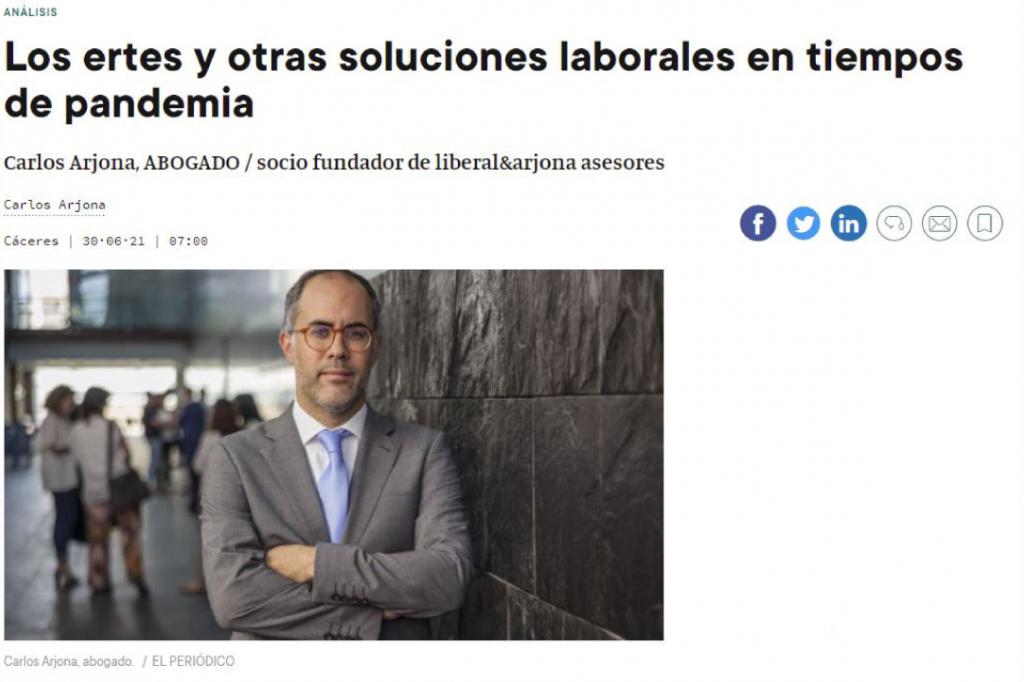 Entrevista a Carlos Arjona: Los ertes y otras soluciones laborales en tiempos de pandemia
